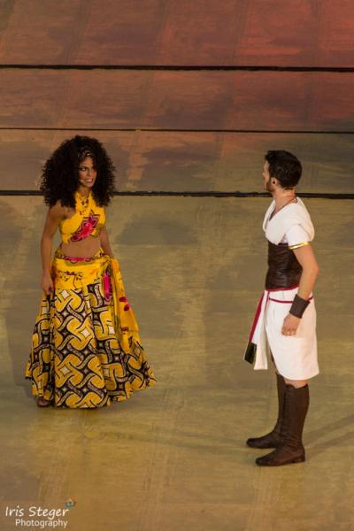 Particia Meeden als Aida mit Jörn-Felix Alt als Radames