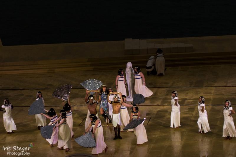 "Ensemble ""Aida"" mit Sophie Berner als Amneris"