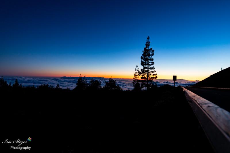 Sonnenuntergang im Parque Nacional del Teide bei Nacht