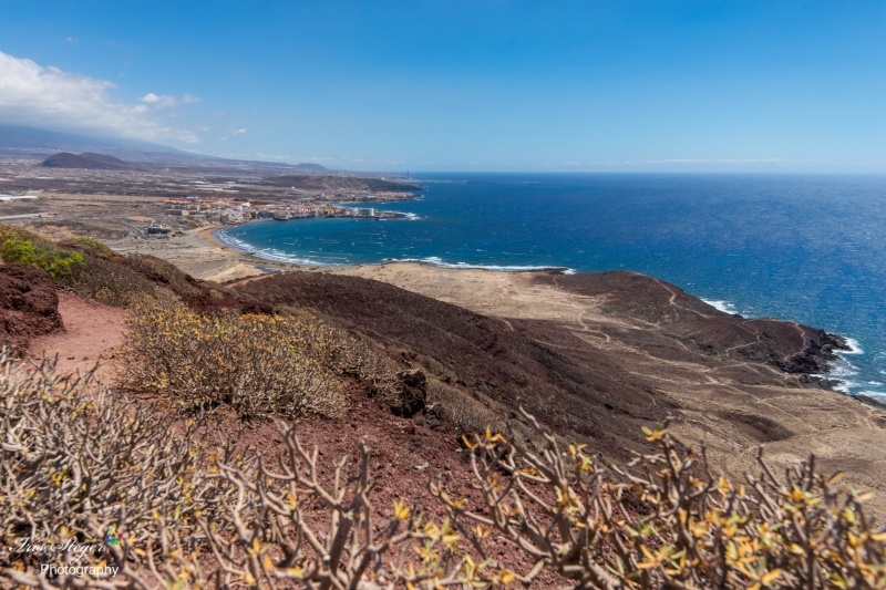 Blick vom Mount Roja auf El Médano