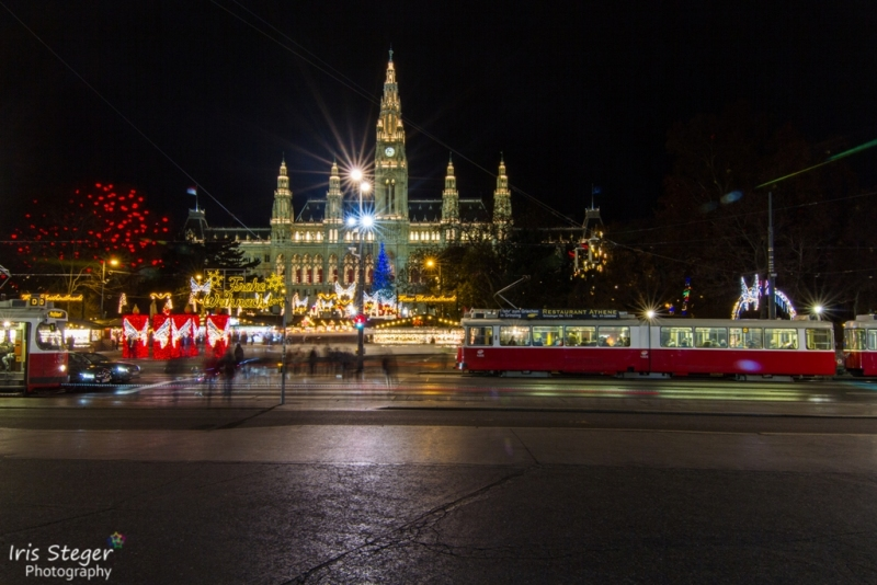 Rathaus Wien mit Weihnachtsmarkt